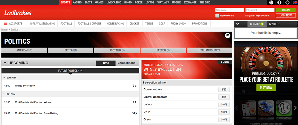ladbrokes general election