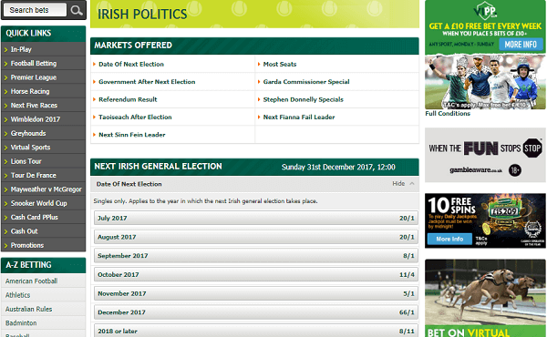 Paddy Power Irish Election