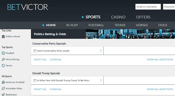 Political Betting Websites
