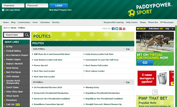 Political Betting Reviews